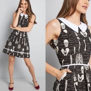 ModCloth Rad to the Bone Glow in the Dark Dress